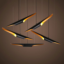 Loft bamboo tube droplight,1 piece white black bedroom pub cafe chandelier clothing store living room bar light pendant lamp