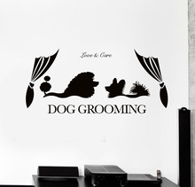 Animal Pet Vinyl Wall Stickers High Quality Wall Decal Dog Grooming Salon Sticker Removable Wallpaper Artistic Design SA496