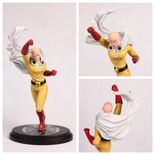 Huong Anime Figure 26.5 CM ONE PUNCH MAN Saitama Sensei Face can change PVC Action Figure Collectible Model Toy Brinquedos(China)
