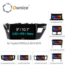 Ownice C500+ Android 6.0 8 Core Car Radio GPS DVD For Toyota Universal corolla RAV4 CAMRY Highlander VIOS YARiS L REIZ 2015 2016(China)