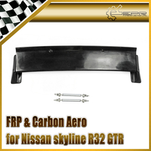 Car-styling FRP Fiber Glass Rocket B Style Rear Spoiler Fiberglass Trunk Wing Accessories Trim Fit For Nissan R32 GTR Wide Body