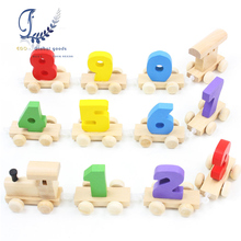 Number Train Dragging Dismounting Car Game /Baby Children Educational Wooden Toy Doll Birthday Gift Childhood/Adulthood oyuncak(China)