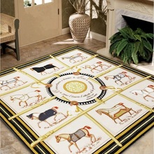 Bedroom Carpet Cushion Horse-Rug Living-Room H-Printed-Style Modern Classic Home Porch-Mat