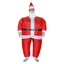 Kid Adult Inflatable Christmas Inflatable Suits Hot Christmas Santa Costumes With Polyester Inflatable Santa Costume Christmas
