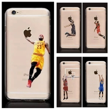 For iPhone 7,7 Plus Basketball Player Kobe Bryant Lebron James Michael Jordan Stephen Curry Soft TPU Silicone Case