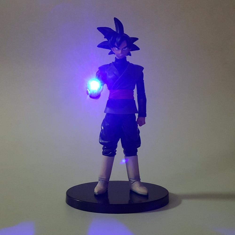 Dragon Ball Black Goku Zamasu Led Light Dragon Ball Action Figures Anime 150mm Super Saiyan Son Goku Led Lighting Lamp DBZ