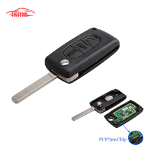 New 433mhz 3Buttons VA2 Blade Auto Car Remote Key Shell Case Cover Replacement With Battery PCF7961 Chip For PEUGEOT CITROEN(China)