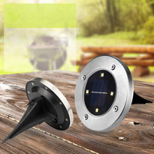 4 LED Garden Solar Light Solar Powered Ground Light IP65 Waterproof LED Lawn Buried Lamp Light Control + Switch