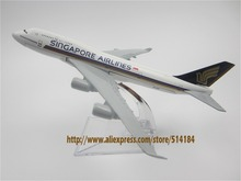 16cm Alloy Metal Airplane Model Air Singapore Airlines B747 400 Boeing 747 Airways Plane Model W Stand Aircraft  Gift