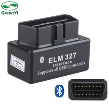GreenYi Estable Auto Scan Tool V1.5 ELM327 Bluetooth OBD OBD2 de Diagnóstico Para Android 5.1 o Android 6.0 PC Del Coche Reproductor de DVD