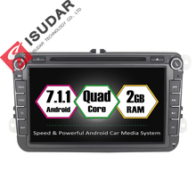 Android 7.1.1 2 Din 8 Inch Car DVD Player VW/Volkswagen/Passat/POLO/GOLF/Skoda/Seat/Leon 2GB RAM WIFI GPS Navigation Radio - ISUDAR Franchised Store store