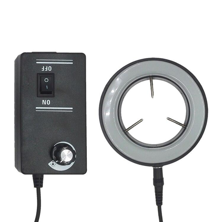 110V-240V LED Shadowless Lamp Microscope Light Source Ring Light Illuminator for Industrial CCD Camera<br>