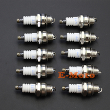 10X L7T Spark Plug FOR 2 STROKE ATV MINI SUPER POCKET BIKE Trimmer 47CC 49CC free shipping