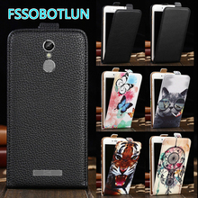 Factory Direct! TOP Quality Printed Cartoon Up and Down Flip PU Leather Cell Phone Case Cover For BLU Vivo 5R