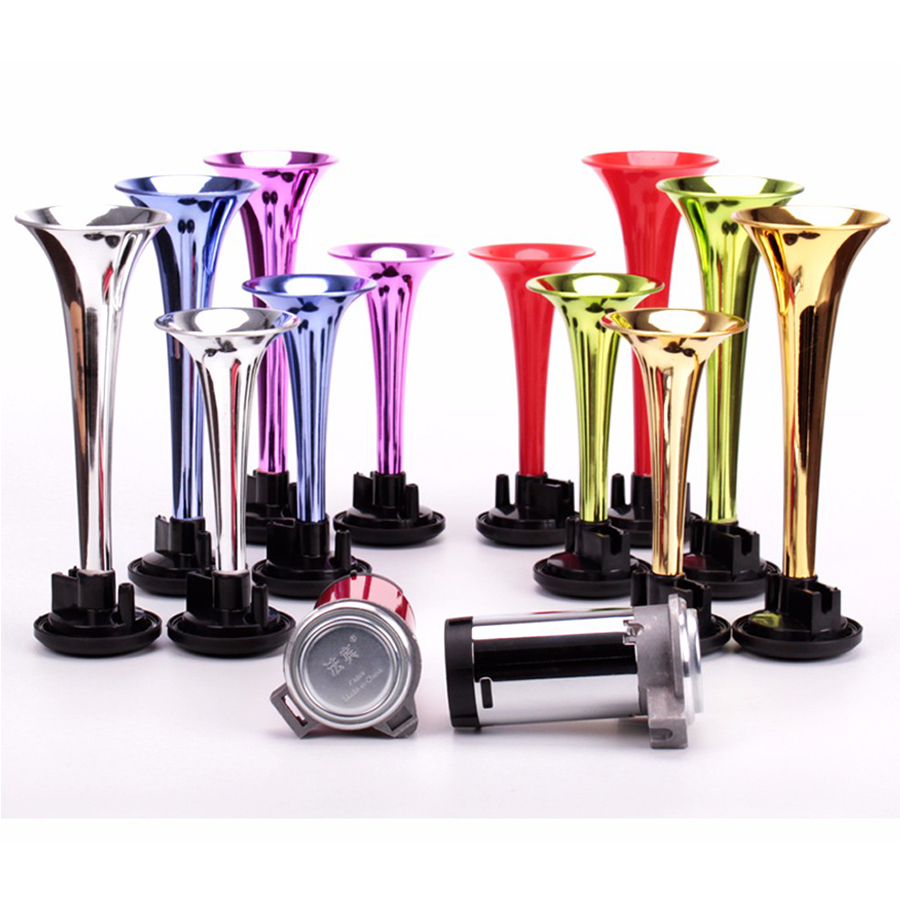 Car horns twin air 12V 24V super loud whistle horn motorcycle air horns can choose the color can customized FB-SLSG(China (Mainland))