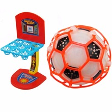 2pc Parent-child Interaction Desktop Basketball Fun Game Sports Toys Soft Mini Basketball Shooting Game Kit Football No Battery(China)