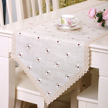 yazi Table Runner Vintage Embroidered Flower Lace Wedding Party Home Kitchen Decor Tablecloth 5 Size