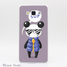 3406CA Sup Panda Transparent Hard Cover Case for Galaxy A3 A5 A7 A8 Note 2 3 4 5 J5 J7 Grand 2 & Prime