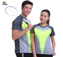 SEA PLANETSP 2017 Sportswear sweat Quick Dry breathable badminton shirt , Women / Men table tennis clothes team Gym T Shirts(China)