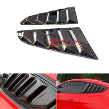 GT Side Fender Carbon Fiber Scoop Louver Shield for Mustang Ford 2015-2016 V6