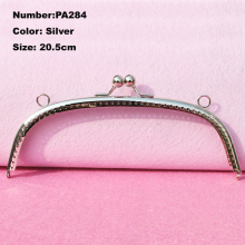 PA284 1 Pcs Purse Frame Hanger Embossing 20.5cm Silver Metal Clasps Purses Accessories Handles Handbags Diy Bag Parts