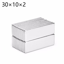 20pcs 30*10*2 Strong Block Cuboid Neodymium Magnets 30x10x2 Rare Earth Neo Magnet N35 30mm x 10mm x 2mm free shipping