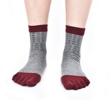 Mens Five Toes Socks Spring Autumn Combed Cotton 5 Fingers Socks Men Dress Socks Lot Deodorant Breathable Sox 2017(China)