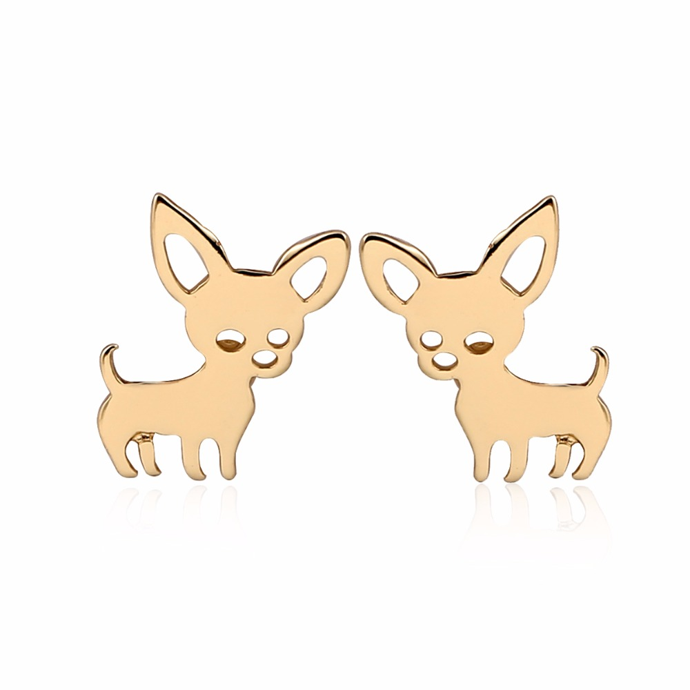 New Arrival Chihuahua Earrings for women Cute Dog Studs Chihuahua jewelry love my pet jewelry animal earrings party gift kids