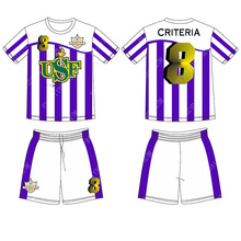 Custom latest football jersey designs Sublimation soccer shirt(China)