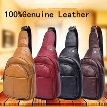 New Designer Genuine Leather Real Cowhide Retro Men Messenger Shoulder Cross Body Bag Triangle Travel Trend Chest Day Back Pack(China)