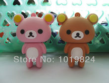 100% real capacityLovely Couple teddy bears lover's gift USB Flash Pen Drive 4GB 8GB 16GB pendriveping S95(China)