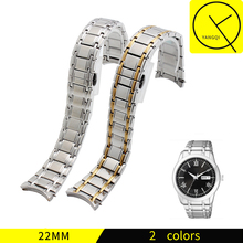 YQ Stainless Steel WatchBand for Citizen Watch NH8290 Man Watchstrap Bracelets 22mm Silver Gold with Tools NH8290-59A NH8290-59E(China)