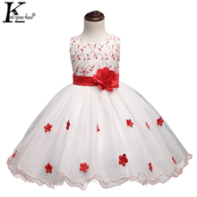 KEAIYOUHUO Summer Dresses For Girls Clothes Sleeveless Children Clothes 3 4 5 6 7 8 Year Chiffon Girls Dress Party Wedding Dress