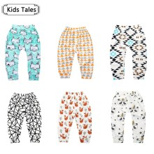 SK094 The girl boy children's trousers baby cotton pants fox baby panda born trouser animals children children's clothing(China)