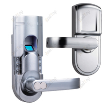 Smart Finger print Locks Biometric Recognize Scan Fingerprint Door Lock with Single latch DIY Installation(China)