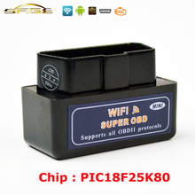 Viecar V1.5 Black / Blue / White MINI ELM327 WIFI OBD2 / OBDII ELM 327 for Android IOS Auto Scanner(China)