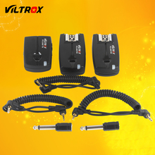 Viltrox FC-240 Wireless Studio Strobe Flash Trigger Camera Remote +2 Receivers for Canon 7D Mark II 6D 5D IV III 1D 50D 40D DSLR