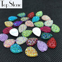 All Colors AB Crystal Resin Acrylic Teardrop flatback Rhinestones 10x14mm,13x18mm 18x25 Scrapbooking crafts Jewelry Accessories(China)