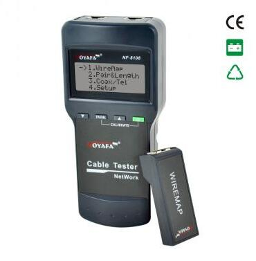 Free Shipping, Noyafa NF-8108 Cat.5E/ 6E UTP STP  Network Cable Tester Check wiring error in 5E, 6E