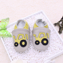 Baby boy cute car watering cart leather shoes soft sole kids girl boy cartoon bus shoes todder first walker 68styles for 0-2T(China)