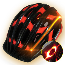 New Cycling Helmet Bike Bicycle Helmets with Light for Night Riding Green Red Orange 3 Colors Cascos Ciclismo MTB Road EPS+PVC(China)