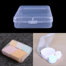 1Pcs Make Up Puff Box Makeup Foundation Blender Blending Puff Case Transparent Silica Powder Sponge box(China)