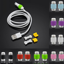100pcs/lot New Multicolor Data Charger Cable Saver Cable Protector For iPhone SE 5 5S 5C 6 6S Plus 6plus 6splus Cover Protective