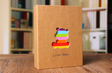 2016 Lovely 100 Sheets Handmade Diy animal Traditional Pocket Photo Album Scrapbooking Child/Baby Photo Album Gift(China)