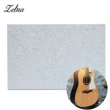 Zebra New 3 Ply Pearl White Plastic Pickguard Blank Plate Sheet Musical Stringed Instruments Parts for Guitar Electric Bass(China)