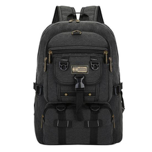 TOP POWER Men Bag Big Fashion Canvas Backpacks For Men Travel Large Capacity Arcuate Shoulder Strap Zipper Solid Male Backpack(China)