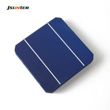 JSLINTER 10Pcs 2.95W Monocrystalline Silicon Solar Cell 125mm 5x5 A Grade 19% Ellectrical 2BB for DIY 30W Solar Panel