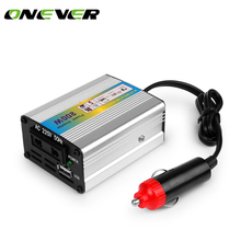Onever 12V DC to AC 220V 50HZ Car Modified Sine Wave Inverter Converter Adapter Adaptor 200W USB Car Charger For Iphone 8 8PLus