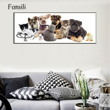 Animal Dog Art Canvas Poster Wall Painting Fashions Picture Modern Home Prints Kids Room Decor No Frame,carte pokemon
