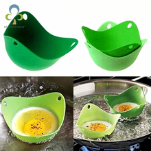 1 pcs silicon egg mold Nontoxic temperature silicone egg boiler poachers Baking Cup cooking tools kitchen gadgets(China)